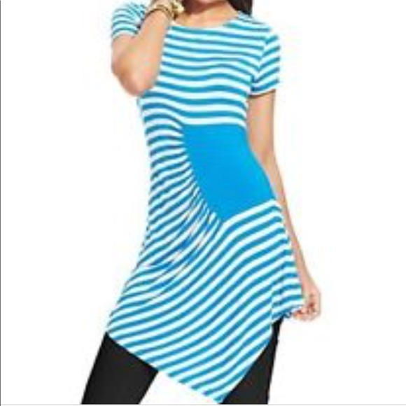 6156309de58 ECI Tops | Asymmetrical Striped Tunic Nwt | Poshmark